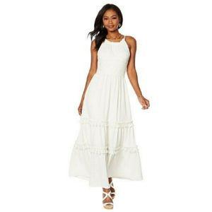 WINTER WHITE MAXI DRESS